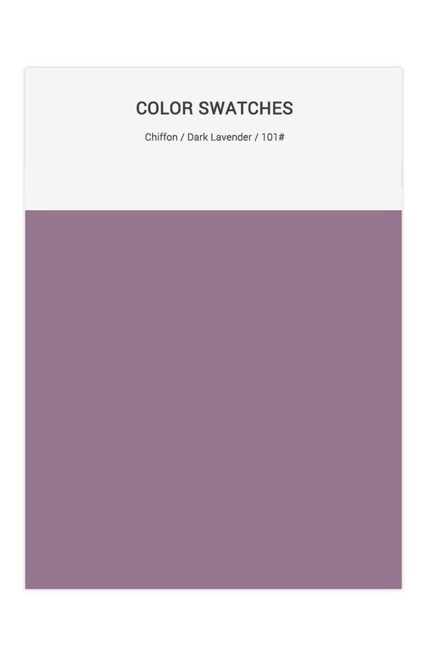 Dark Lavender Color Swatches for Chiffon Bridesmaid Dresses