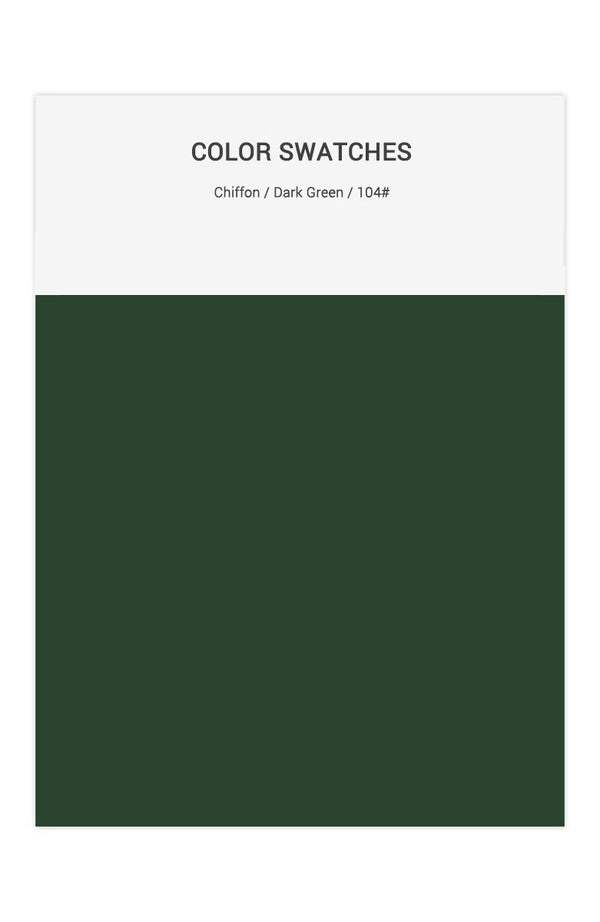 Dark Green Color Swatches for Chiffon Bridesmaid Dresses