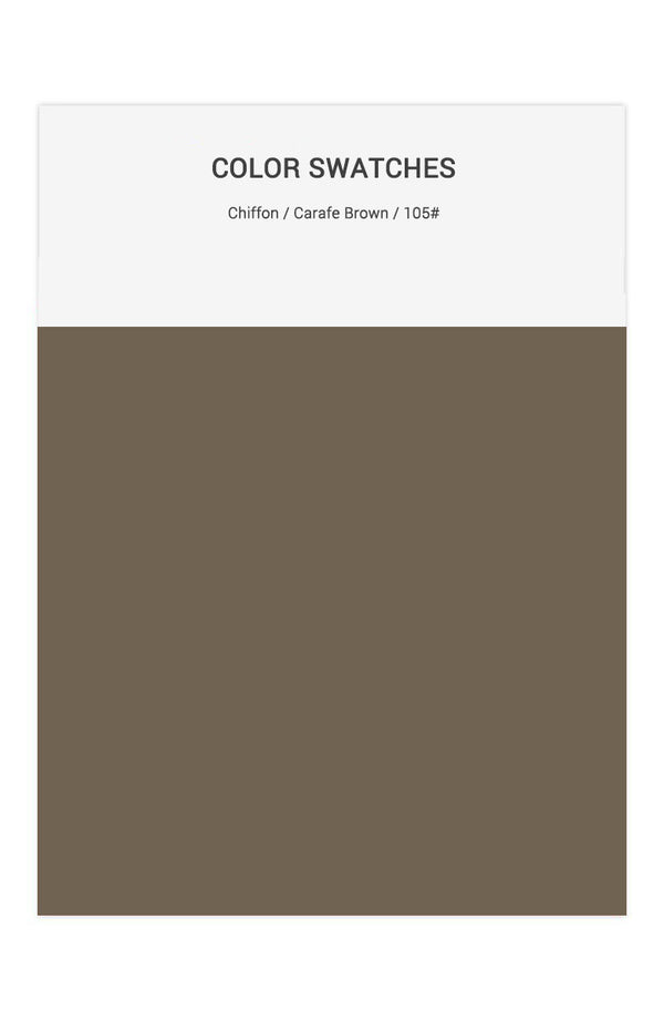 Carafe Brown Color Swatches for Chiffon Bridesmaid Dresses