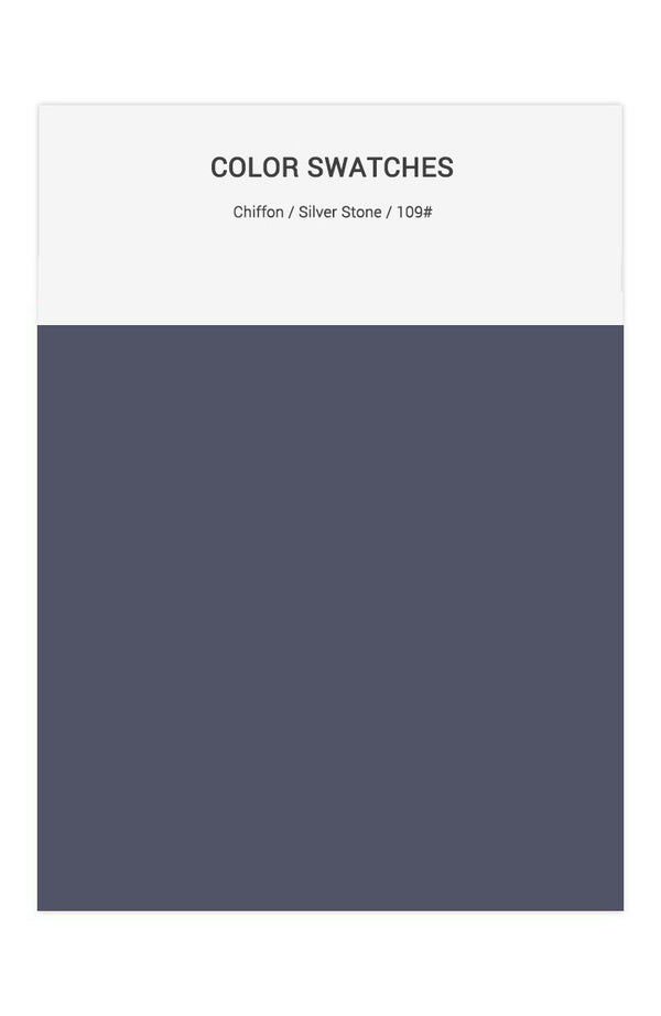 Silver Stone Color Swatches for Chiffon Bridesmaid Dresses