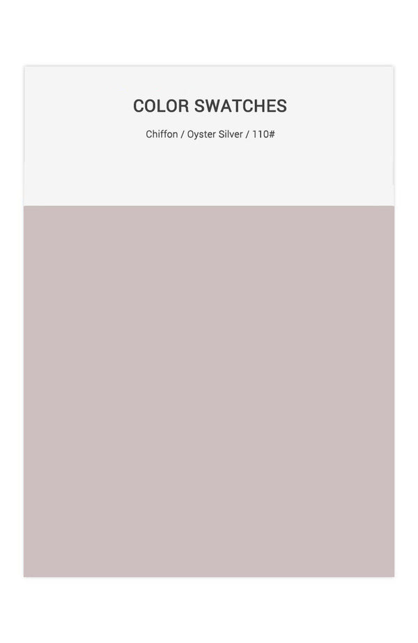 Oyster Silver Color Swatches for Chiffon Bridesmaid Dresses