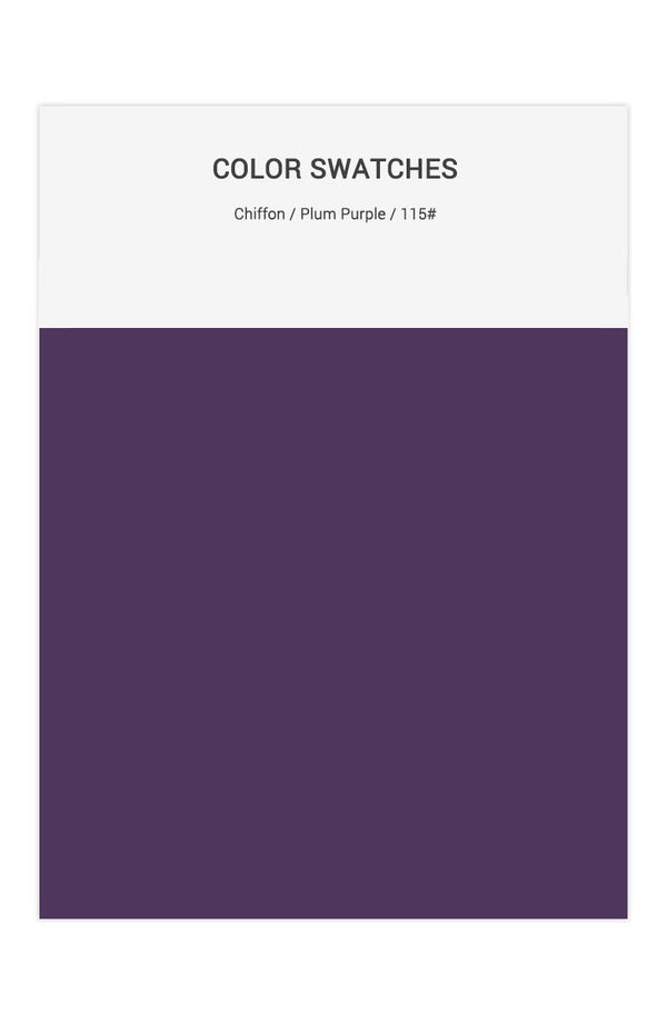 Plum Purple Color Swatches for Chiffon Bridesmaid Dresses