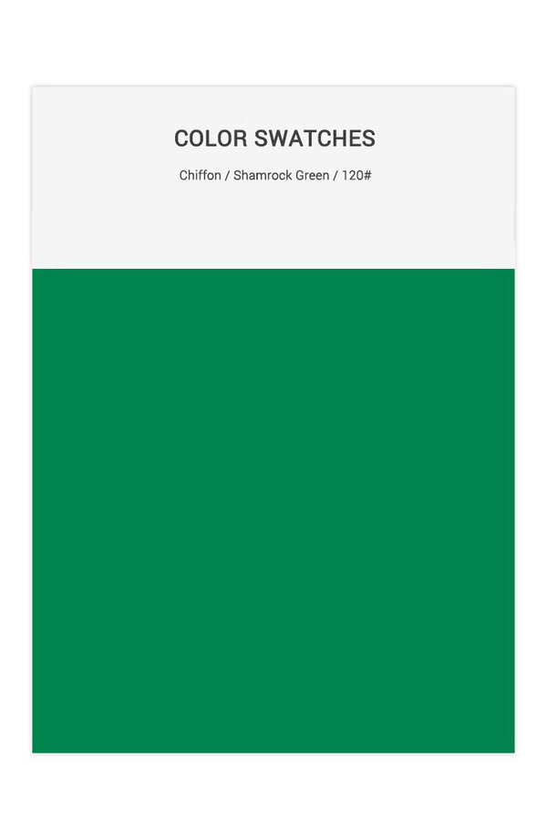Shamrock Green Color Swatches for Chiffon Bridesmaid Dresses