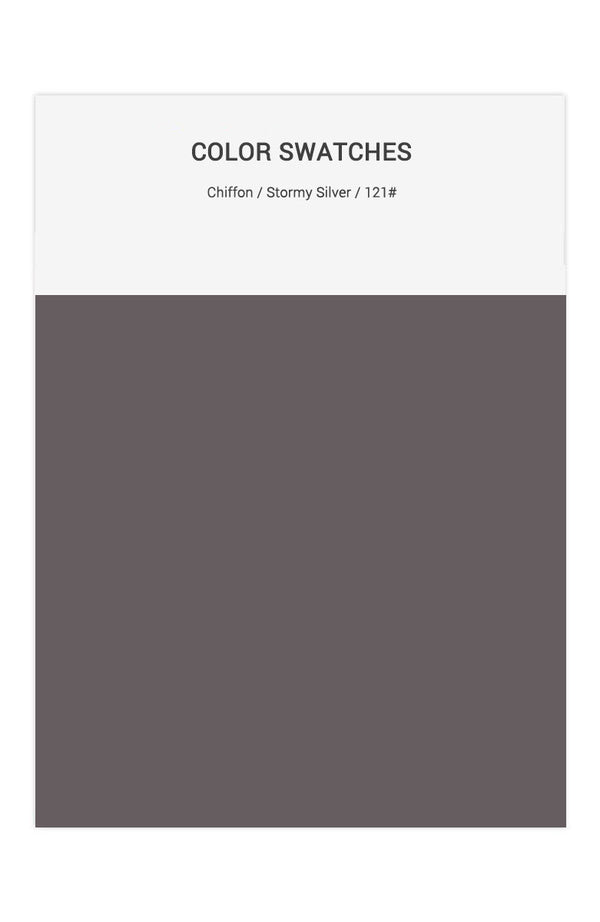 Stormy Silver Color Swatches for Chiffon Bridesmaid Dresses