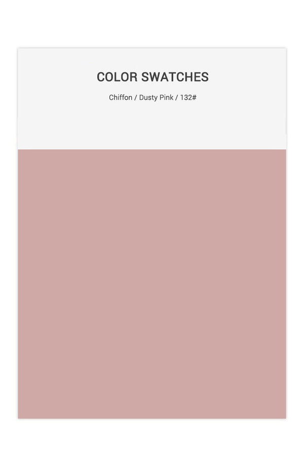 Dusty Pink Color Swatches for Chiffon Bridesmaid Dresses