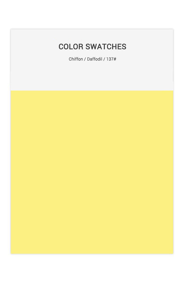 Daffodil Color Swatches for Chiffon Bridesmaid Dresses