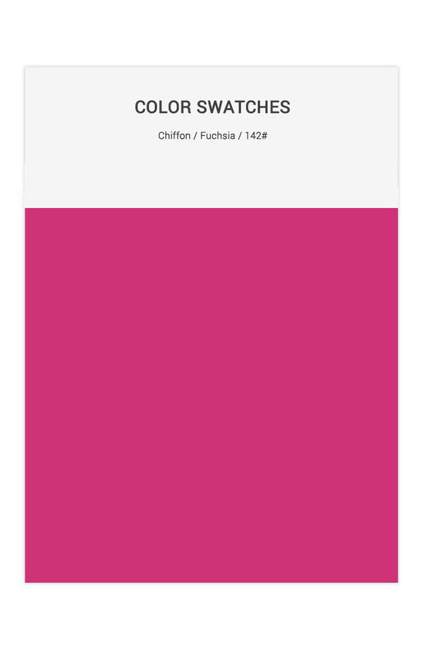 Fuchsia Color Swatches for Chiffon Bridesmaid Dresses