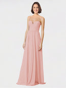 Mila Queen Krista Bridesmaid Dress Bliss - A-Line Sweetheart Spaghetti Straps Long Bridesmaid Gown Krista in Bliss