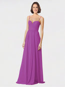 Mila Queen Krista Bridesmaid Dress Dahlia - A-Line Sweetheart Spaghetti Straps Long Bridesmaid Gown Krista in Dahlia