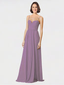 Mila Queen Krista Bridesmaid Dress Dark Lavender - A-Line Sweetheart Spaghetti Straps Long Bridesmaid Gown Krista in Dark Lavender