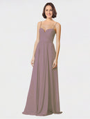 Mila Queen Krista Bridesmaid Dress Dusty Rose - A-Line Sweetheart Spaghetti Straps Long Bridesmaid Gown Krista in Dusty Rose