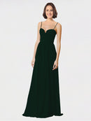 Mila Queen Krista Bridesmaid Dress Ever Green - A-Line Sweetheart Spaghetti Straps Long Bridesmaid Gown Krista in Ever Green