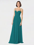 Mila Queen Krista Bridesmaid Dress Hunter - A-Line Sweetheart Spaghetti Straps Long Bridesmaid Gown Krista in Hunter