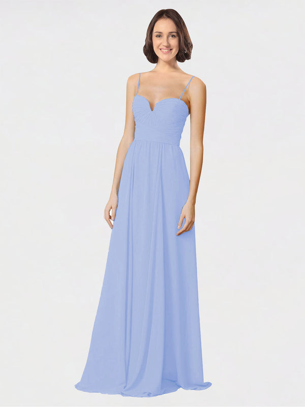 Mila Queen Krista Bridesmaid Dress Lavender - A-Line Sweetheart Spaghetti Straps Long Bridesmaid Gown Krista in Lavender