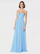 Mila Queen Krista Bridesmaid Dress Periwinkle - A-Line Sweetheart Spaghetti Straps Long Bridesmaid Gown Krista in Periwinkle