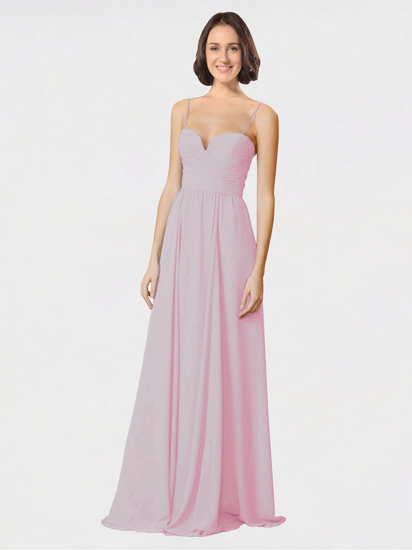 Mila Queen Krista Bridesmaid Dress Primrose - A-Line Sweetheart Spaghetti Straps Long Bridesmaid Gown Krista in Primrose