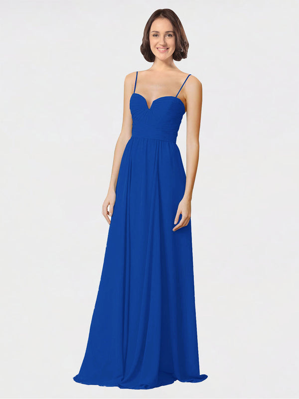 Mila Queen Krista Bridesmaid Dress Royal Blue - A-Line Sweetheart Spaghetti Straps Long Bridesmaid Gown Krista in Royal Blue
