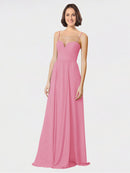 Mila Queen Krista Bridesmaid Dress Skin Pink - A-Line Sweetheart Spaghetti Straps Long Bridesmaid Gown Krista in Skin Pink