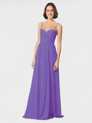 Mila Queen Krista Bridesmaid Dress Tahiti - A-Line Sweetheart Spaghetti Straps Long Bridesmaid Gown Krista in Tahiti