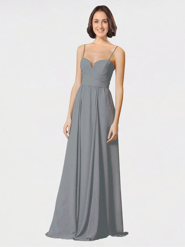 Mila Queen Krista Bridesmaid Dress Wisteria - A-Line Sweetheart Spaghetti Straps Long Bridesmaid Gown Krista in Wisteria