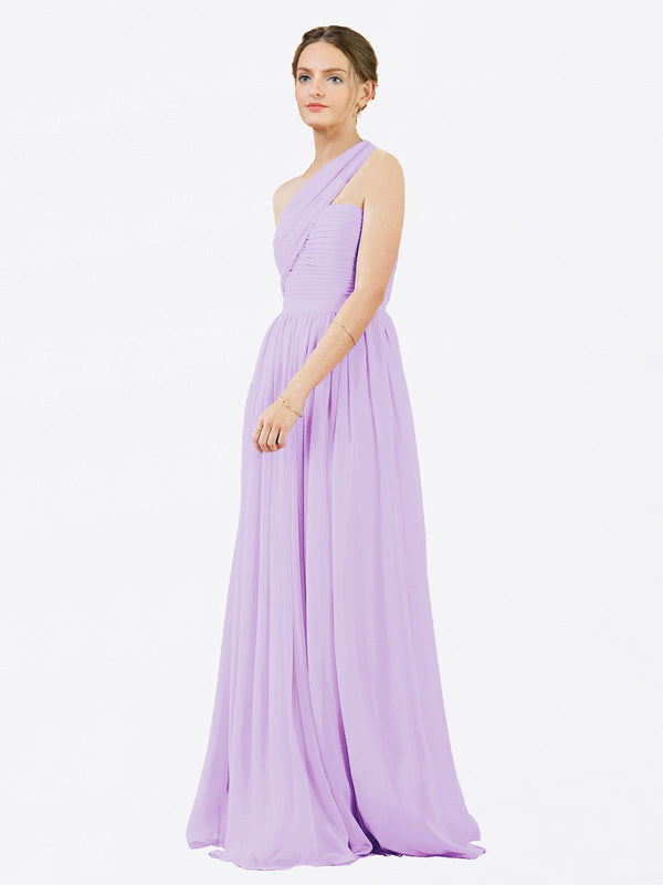 Mila Queen Chloe Bridesmaid Dress Lilac - A-Line One Shoulder Long Bridesmaid Gown Chloe in Lilac