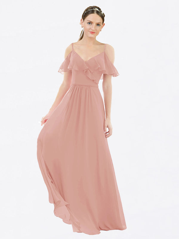 Mila Queen Aubrielle Bridesmaid Dress Bliss - A-Line V-Neck Bridesmaid Gown Aubrielle in Bliss