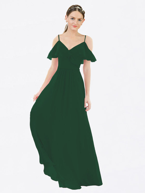Mila Queen Aubrielle Bridesmaid Dress Dark Green - A-Line V-Neck Bridesmaid Gown Aubrielle in Dark Green