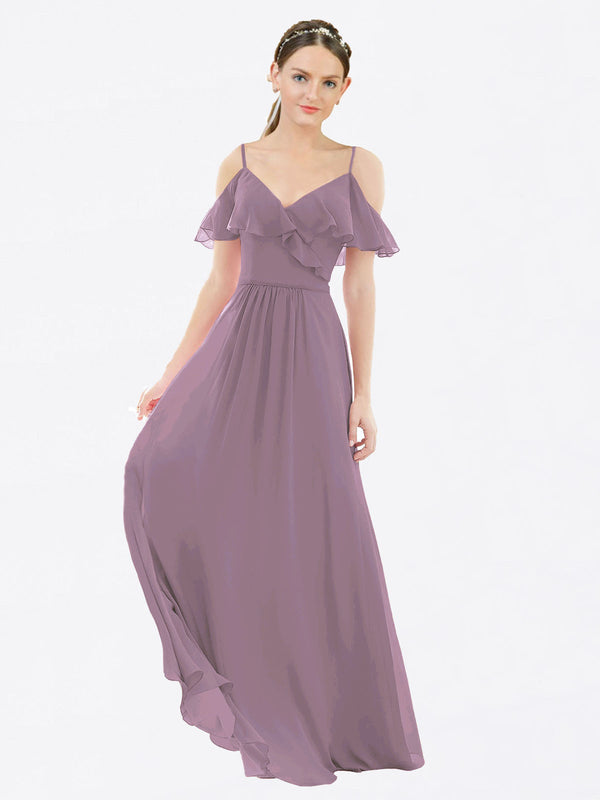 Mila Queen Aubrielle Bridesmaid Dress Dusty Rose - A-Line V-Neck Bridesmaid Gown Aubrielle in Dusty Rose