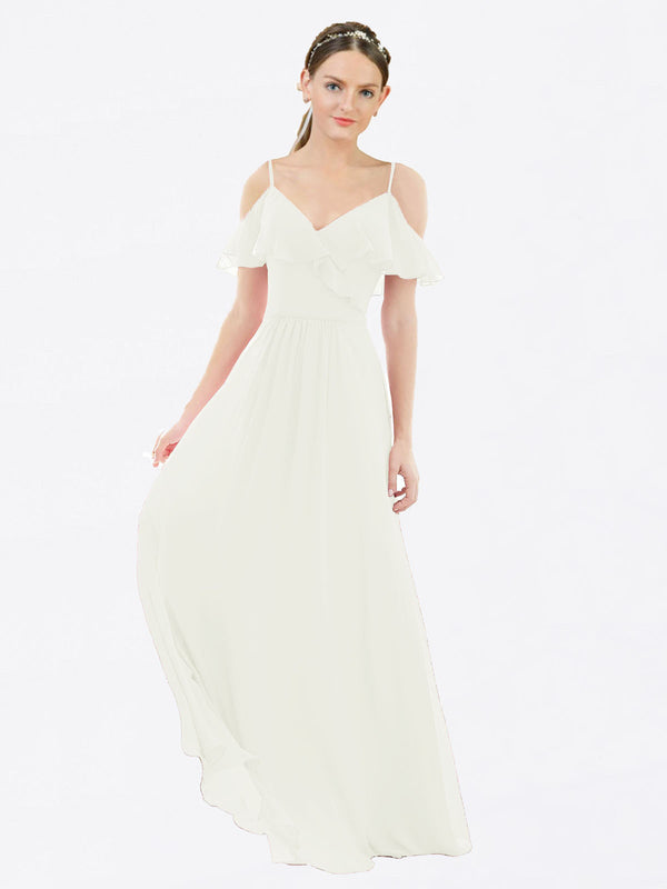 Mila Queen Aubrielle Bridesmaid Dress Ivory - A-Line V-Neck Bridesmaid Gown Aubrielle in Ivory