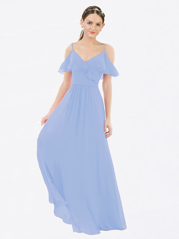 Mila Queen Aubrielle Bridesmaid Dress Lavender - A-Line V-Neck Bridesmaid Gown Aubrielle in Lavender
