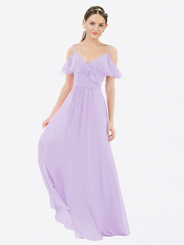 Mila Queen Aubrielle Bridesmaid Dress Lilac - A-Line V-Neck Bridesmaid Gown Aubrielle in Lilac
