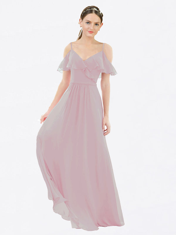 Mila Queen Aubrielle Bridesmaid Dress Primrose - A-Line V-Neck Bridesmaid Gown Aubrielle in Primrose