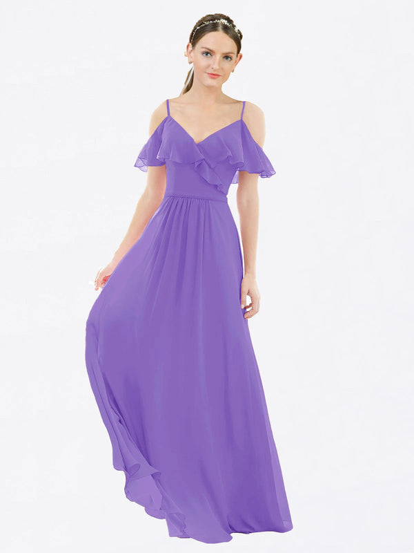 Mila Queen Aubrielle Bridesmaid Dress Tahiti - A-Line V-Neck Bridesmaid Gown Aubrielle in Tahiti