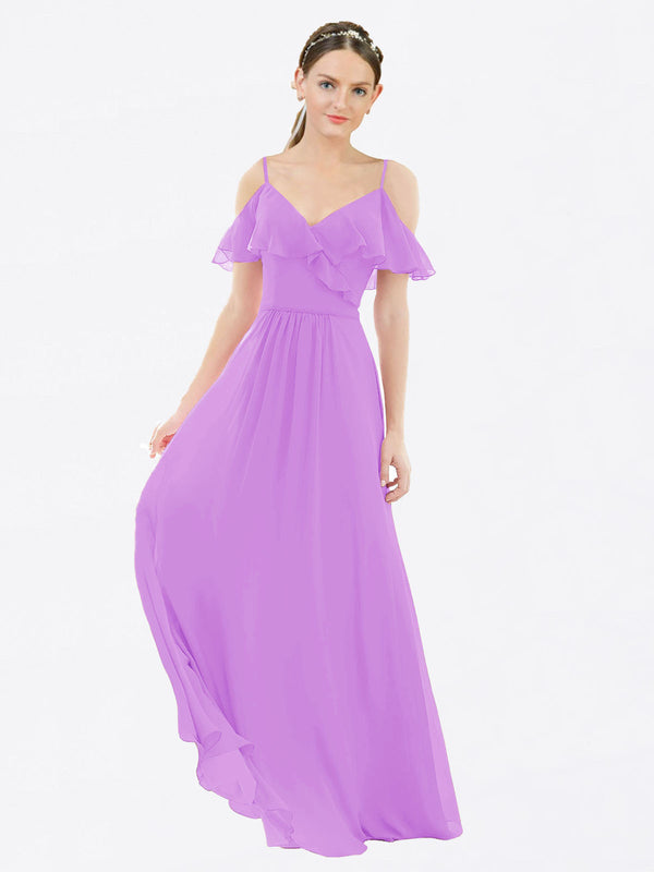 Mila Queen Aubrielle Bridesmaid Dress Violet - A-Line V-Neck Bridesmaid Gown Aubrielle in Violet