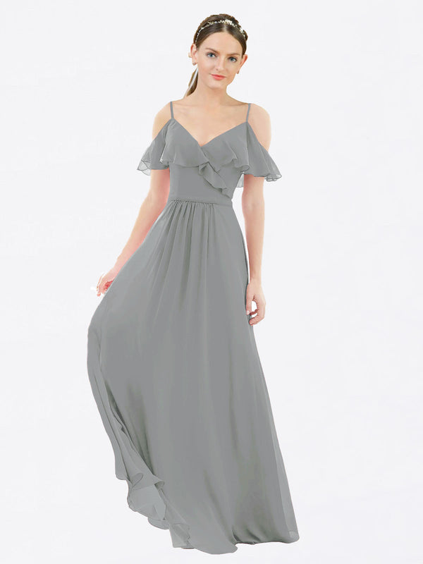 Mila Queen Aubrielle Bridesmaid Dress Wisteria - A-Line V-Neck Bridesmaid Gown Aubrielle in Wisteria