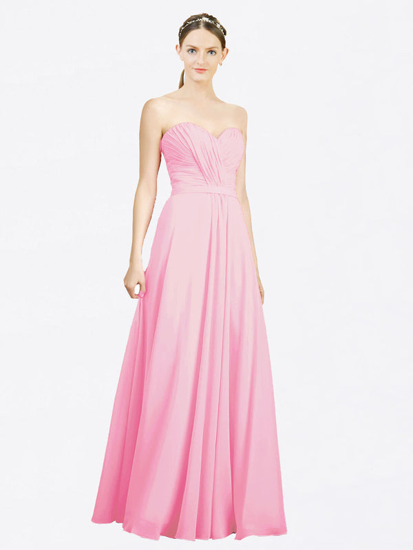 Mila Queen Jazlynn Bridesmaid Dress Barely Pink - A-Line Sweetheart Long Bridesmaid Gown Jazlynn in Barely Pink