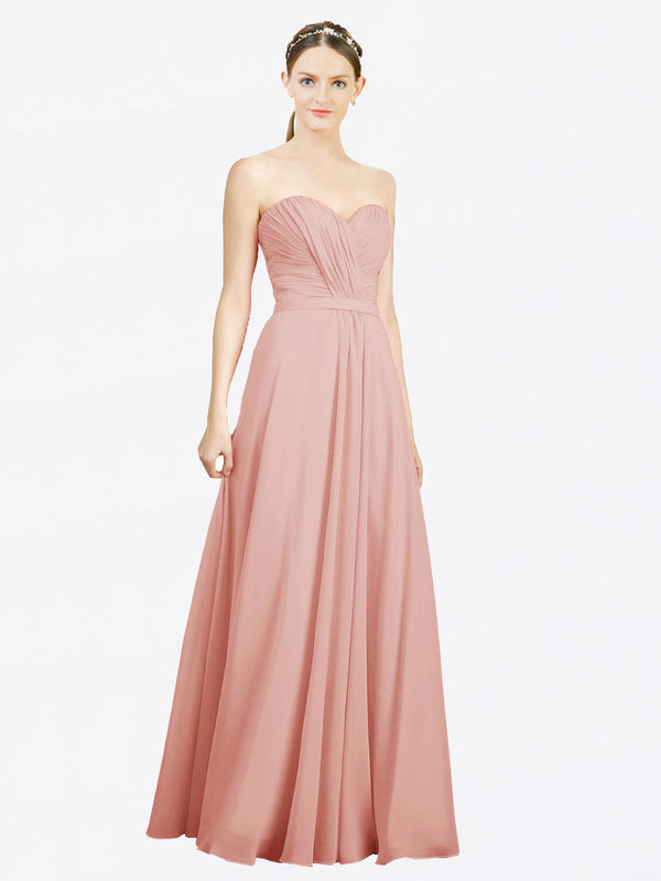 Mila Queen Jazlynn Bridesmaid Dress Bliss - A-Line Sweetheart Long Bridesmaid Gown Jazlynn in Bliss