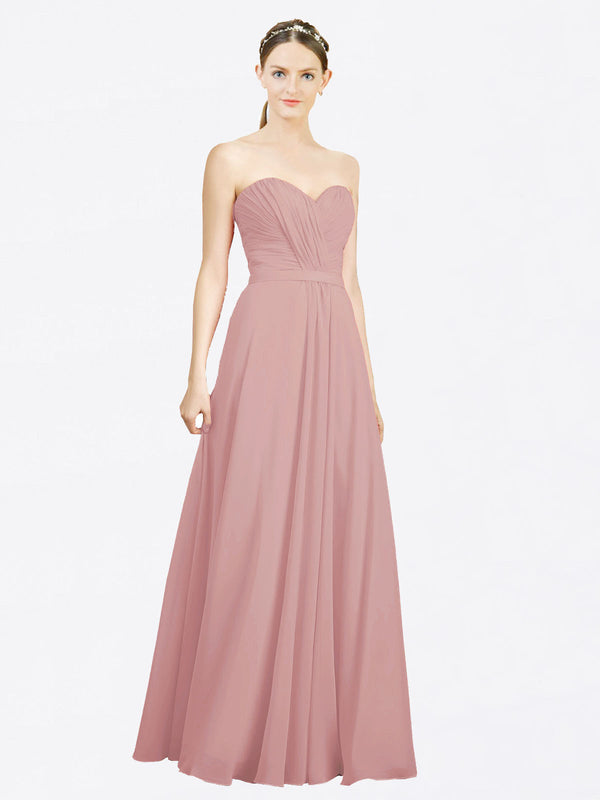 Mila Queen Jazlynn Bridesmaid Dress Dusty Pink - A-Line Sweetheart Long Bridesmaid Gown Jazlynn in Dusty Pink