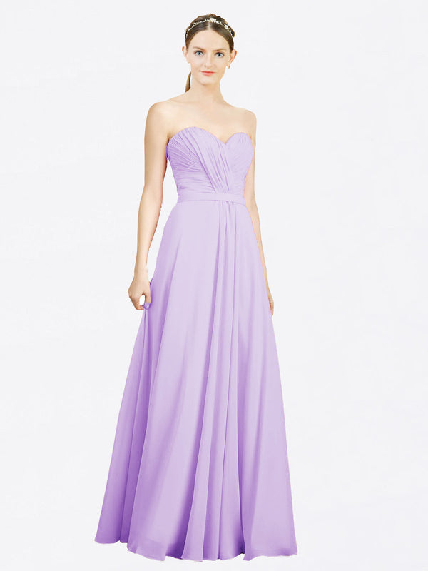 Mila Queen Jazlynn Bridesmaid Dress Lilac - A-Line Sweetheart Long Bridesmaid Gown Jazlynn in Lilac