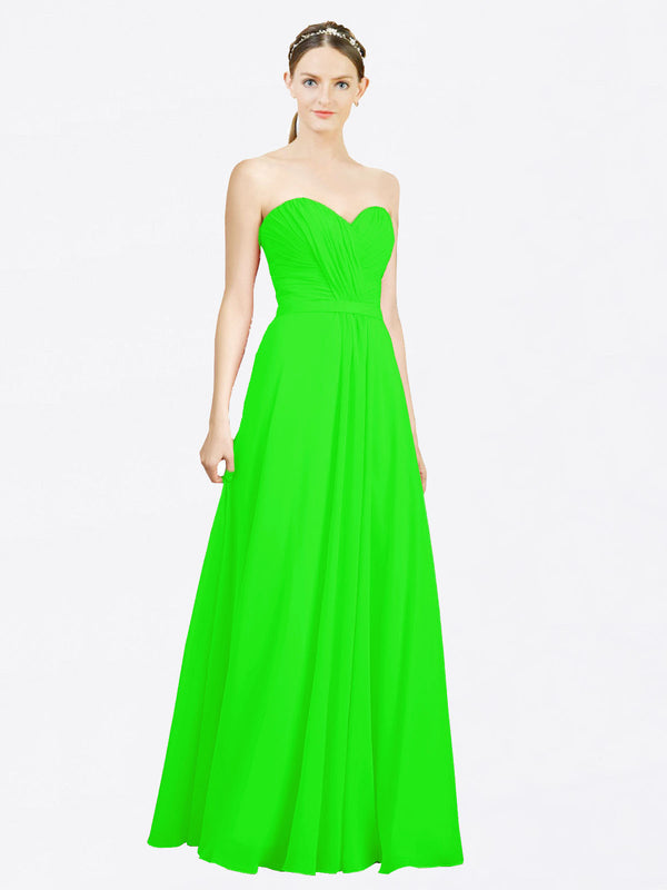 Mila Queen Jazlynn Bridesmaid Dress Lime Green - A-Line Sweetheart Long Bridesmaid Gown Jazlynn in Lime Green