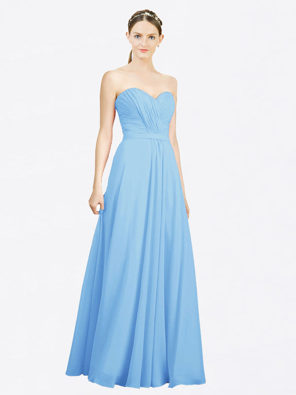 Mila Queen Jazlynn Bridesmaid Dress Periwinkle - A-Line Sweetheart Long Bridesmaid Gown Jazlynn in Periwinkle