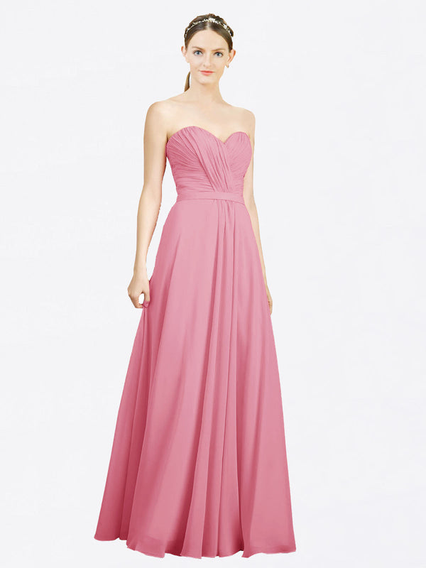Mila Queen Jazlynn Bridesmaid Dress Skin Pink - A-Line Sweetheart Long Bridesmaid Gown Jazlynn in Skin Pink
