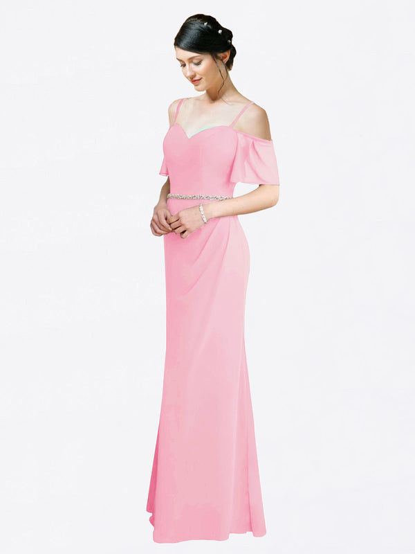 Mila Queen Kaley Bridesmaid Dress Barely Pink - A-Line Sweetheart Long Bridesmaid Gown Kaley in Barely Pink
