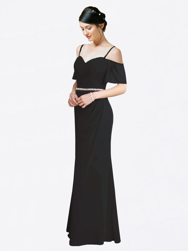 Mila Queen Kaley Bridesmaid Dress Black - A-Line Sweetheart Long Bridesmaid Gown Kaley in Black