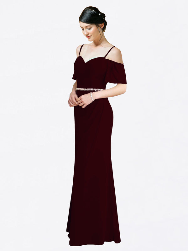 Mila Queen Kaley Bridesmaid Dress Burgundy Gold - A-Line Sweetheart Long Bridesmaid Gown Kaley in Burgundy Gold