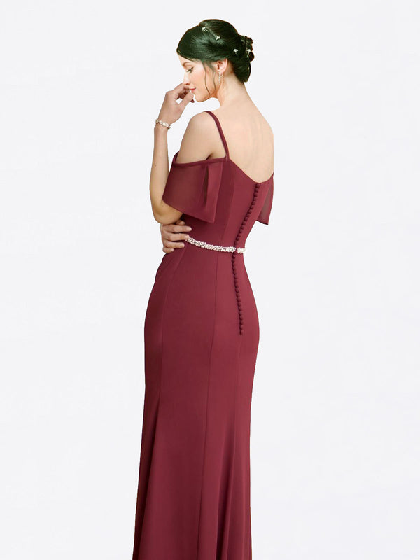 Mila Queen Kaley Bridesmaid Dress in Burgundy - A-Line Sweetheart Long Bridesmaid Gown Kaley in Burgundy
