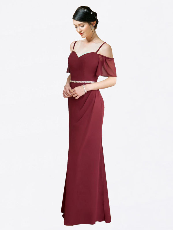 Mila Queen Kaley Bridesmaid Dress Burgundy - A-Line Sweetheart Long Bridesmaid Gown Kaley in Burgundy