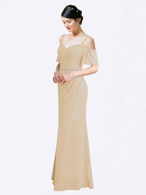 Mila Queen Kaley Bridesmaid Dress Champagne - A-Line Sweetheart Long Bridesmaid Gown Kaley in Champagne