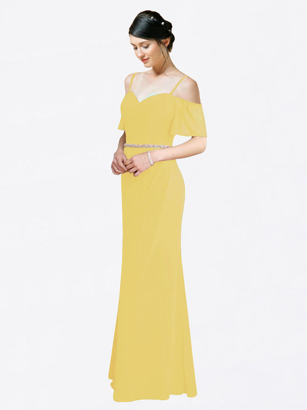 Mila Queen Kaley Bridesmaid Dress Daffodil - A-Line Sweetheart Long Bridesmaid Gown Kaley in Daffodil