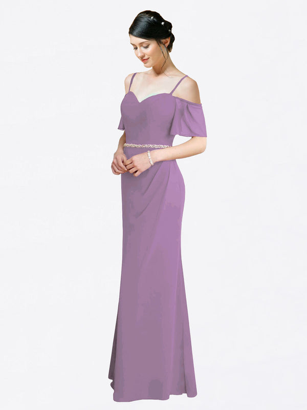 Mila Queen Kaley Bridesmaid Dress Dark Lavender - A-Line Sweetheart Long Bridesmaid Gown Kaley in Dark Lavender